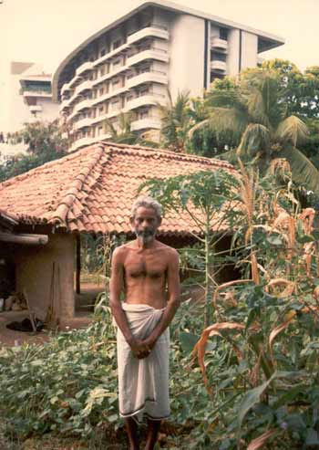 Farmer Tennekoon at the Samudra Cottage